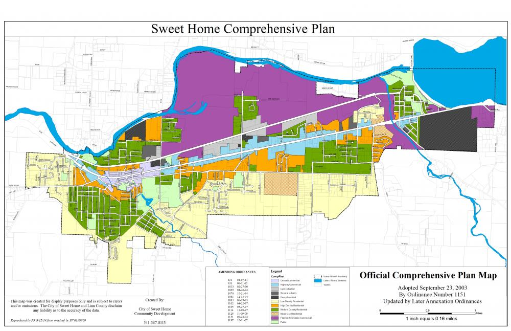 Planning Division Sweet Home Oregon